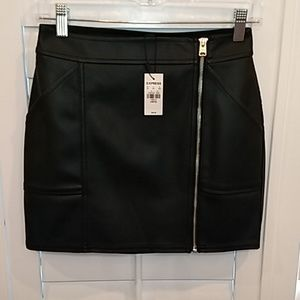 Express. Faux Leather Petite Mini Skirt